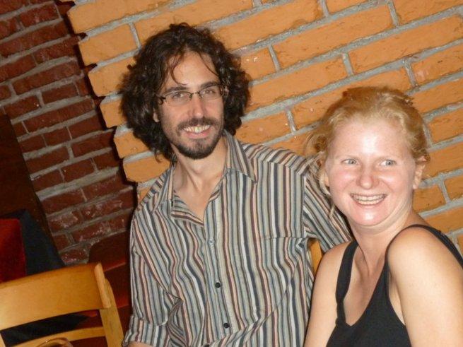 Violin player Hernan and Magda from Poland
