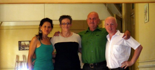 With Kevin and Judith. Kevin had just arrive on his motorbike from Alaska...